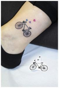 bike small tattoo