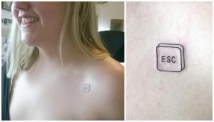 esc button tattoo