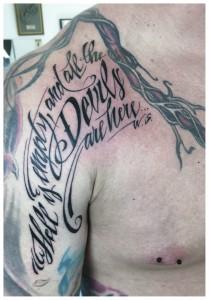 shakespeare quote tattoo script
